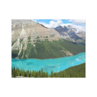 Parque glacial Alberta Canadá de Banff del lago Pe Impresión De Lienzo