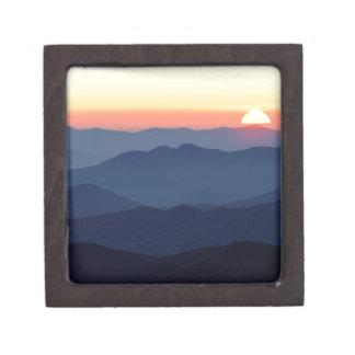 Parque gran Ains en la puesta del sol Tennessee Caja De Regalo De Calidad
