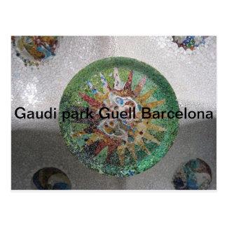Parque Guell Barcelona de Gaudi Tarjeta Postal