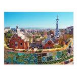 Parque Guell, Barcelona - España Tarjeta Postal