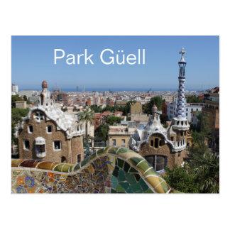 Parque Güell, Barcelona, España Postal