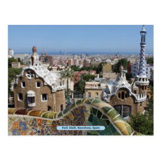 Parque Güell, Barcelona, España Tarjetas Postales