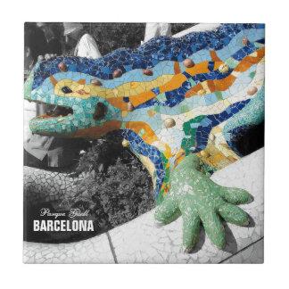 Parque Guell de Barcelona Gaudi Tejas Ceramicas