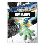"""Parque Guell de Barcelona Gaudi Invitación 5.5"""" X 7.5"""""""