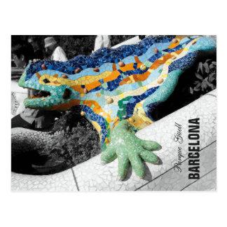 Parque Guell de Barcelona Gaudi Tarjeta Postal