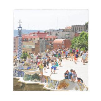 Parque Guell en Barcelona, España Libretas Para Notas