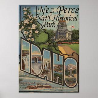 Parque histórico nacional de Nez Perce, identifica Poster