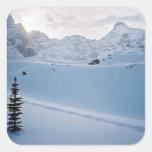Parque Icefields Alberta Canadá de Parker Ridge Pegatinas Cuadradas