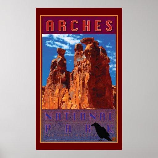 Parque-Impresión del nacional de los arcos Poster