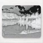 parque. lago. negativo. blanco y negro. alfombrillas de raton