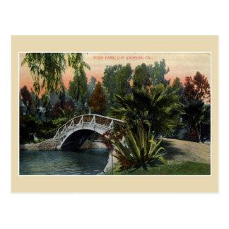 Parque Los Ángeles del eco del vintage Postal
