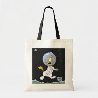 Parque lunar del perro bolsas de mano