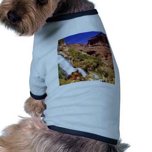 Parque magnífico del río del trueno del barranco camiseta con mangas para perro