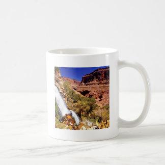 Parque magnífico del río del trueno del barranco tazas de café
