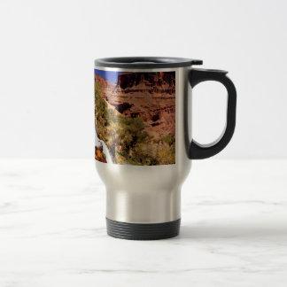 Parque magnífico del río del trueno del barranco taza de café