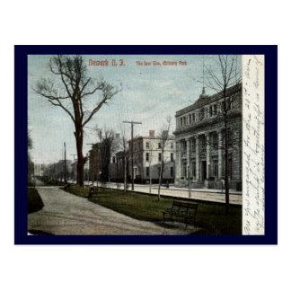 Parque militar, vintage 1908 de Newark New Jersey Tarjetas Postales