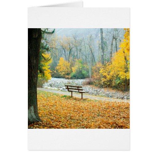 Parque Missoula Montana de Greenough del otoño Tarjeta De Felicitación