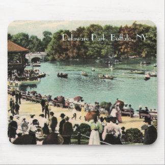 Parque Mousepad de Delaware del vintage