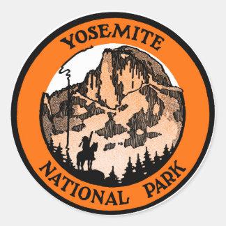 Parque nacional 1910 de Yosemite Pegatina Redonda
