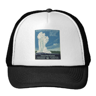 Parque nacional 1938 fiel viejo de Yellowstone Gorras