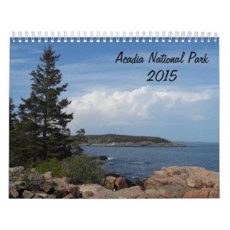 Parque nacional 2015 del Acadia Calendarios