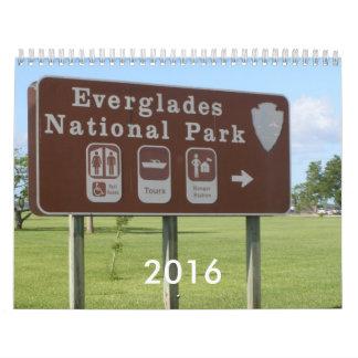 Parque nacional 2016 de los marismas calendario
