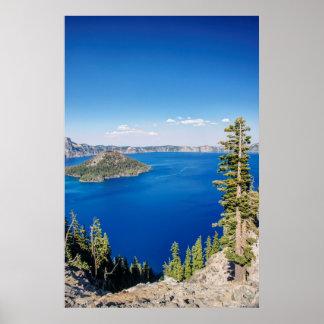 Parque nacional 2 de los E.E.U.U., Oregon, lago Póster