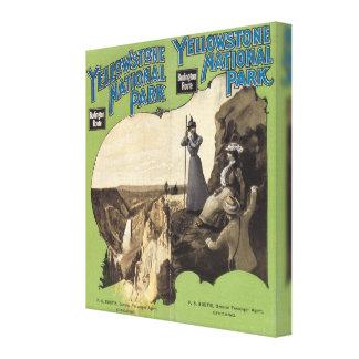 Parque nacional 2 de Yellowstone Lienzo Envuelto Para Galerías