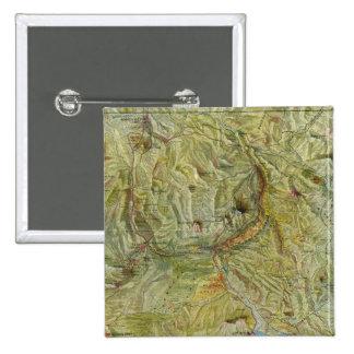 Parque nacional 2 de Yellowstone Pin Cuadrada 5 Cm