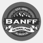 """Parque nacional """"Ansel Adams """" de Banff Pegatina Redonda"""