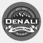 """Parque nacional """"Ansel Adams """" de Denali Pegatinas Redondas"""