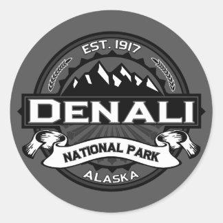 """Parque nacional """"Ansel Adams """" de Denali Pegatina Redonda"""