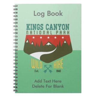 Parque nacional California de reyes Canyon Libreta Espiral