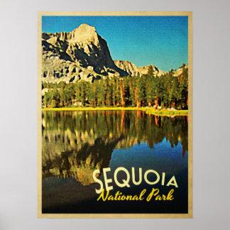 Parque nacional California de secoya Posters
