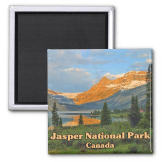 Parque nacional Canadá de jaspe Imán Cuadrado