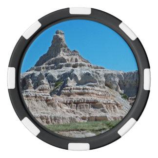 Parque nacional Dakota del Sur de los Badlands Juego De Fichas De Póquer