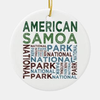 Parque nacional de American Samoa Adorno Redondo De Cerámica