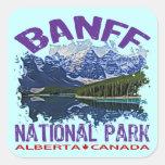 Parque nacional de Banff, Alberta Canadá Calcomania Cuadradas Personalizada