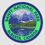 Parque nacional de Banff, Alberta, Canadá Pegatinas Redondas