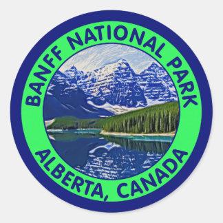 Parque nacional de Banff, Alberta, Canadá Pegatina Redonda
