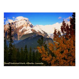 Parque nacional de Banff, Alberta, Canadá Rockies Tarjeta Postal