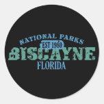Parque nacional de Biscayne Etiquetas Redondas