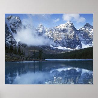 Parque nacional de Canadá Alberta Banff lago Poster