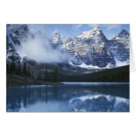 Parque nacional de Canadá, Alberta, Banff, lago Tarjeta De Felicitación