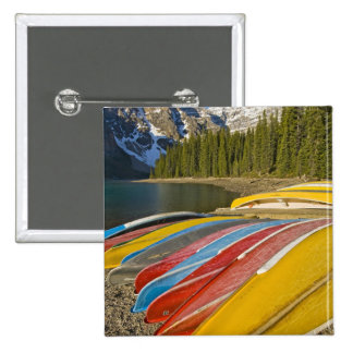 Parque nacional de Canadá, Alberta, Banff, moraine Pin Cuadrada 5 Cm