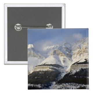 Parque nacional de Canadá, Alberta, Banff. Vista a Pin Cuadrada 5 Cm