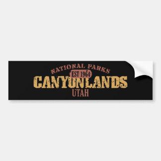 Parque nacional de Canyonlands Etiqueta De Parachoque
