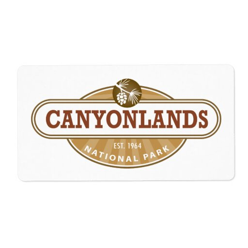 Parque nacional de Canyonlands Etiqueta De Envío