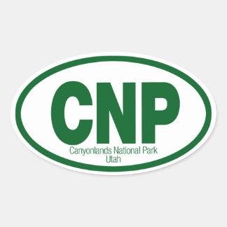 Parque nacional de Canyonlands Pegatina Ovalada