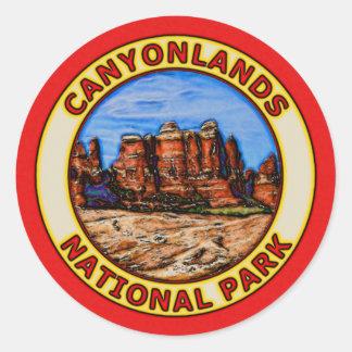Parque nacional de Canyonlands Pegatina Redonda